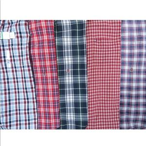 Lot Of 5 Tommy Hilfiger S/S Button Front Shirts